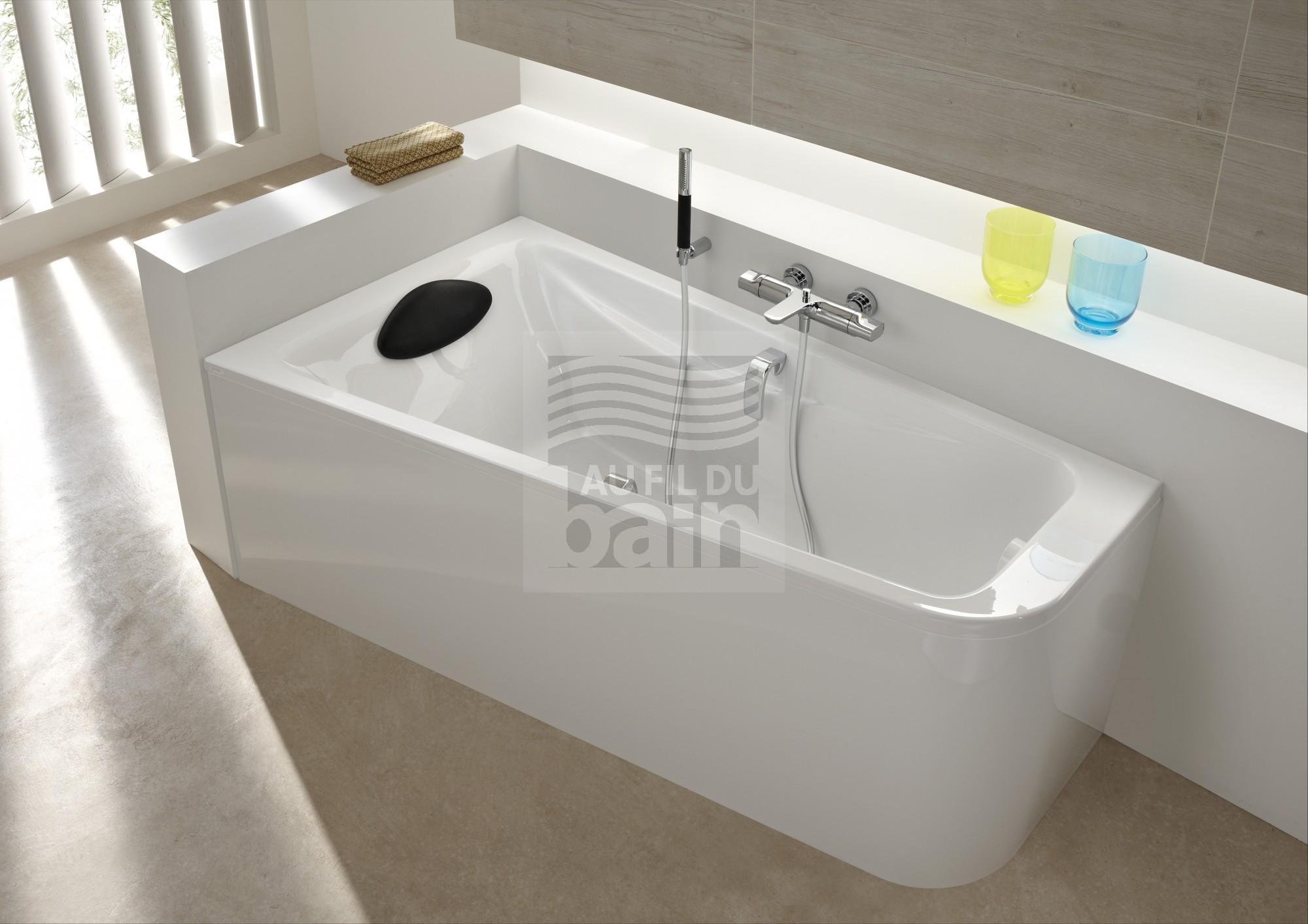 Baignoires acrylique asymetriques avec tablier magasin pour vente de meubles de salle de bains - Magasin salle de bain barentin ...