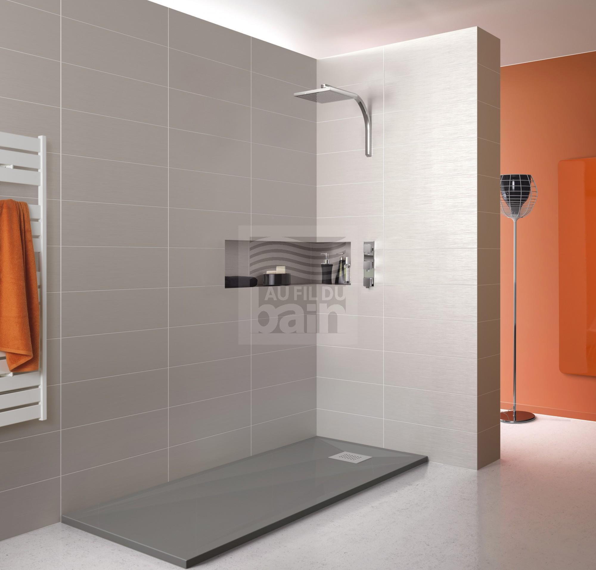 Receveurs de douche extra plat avec bonde en beton de synthese magasin pour vente de meubles - Receveurs de douche extra plat ...