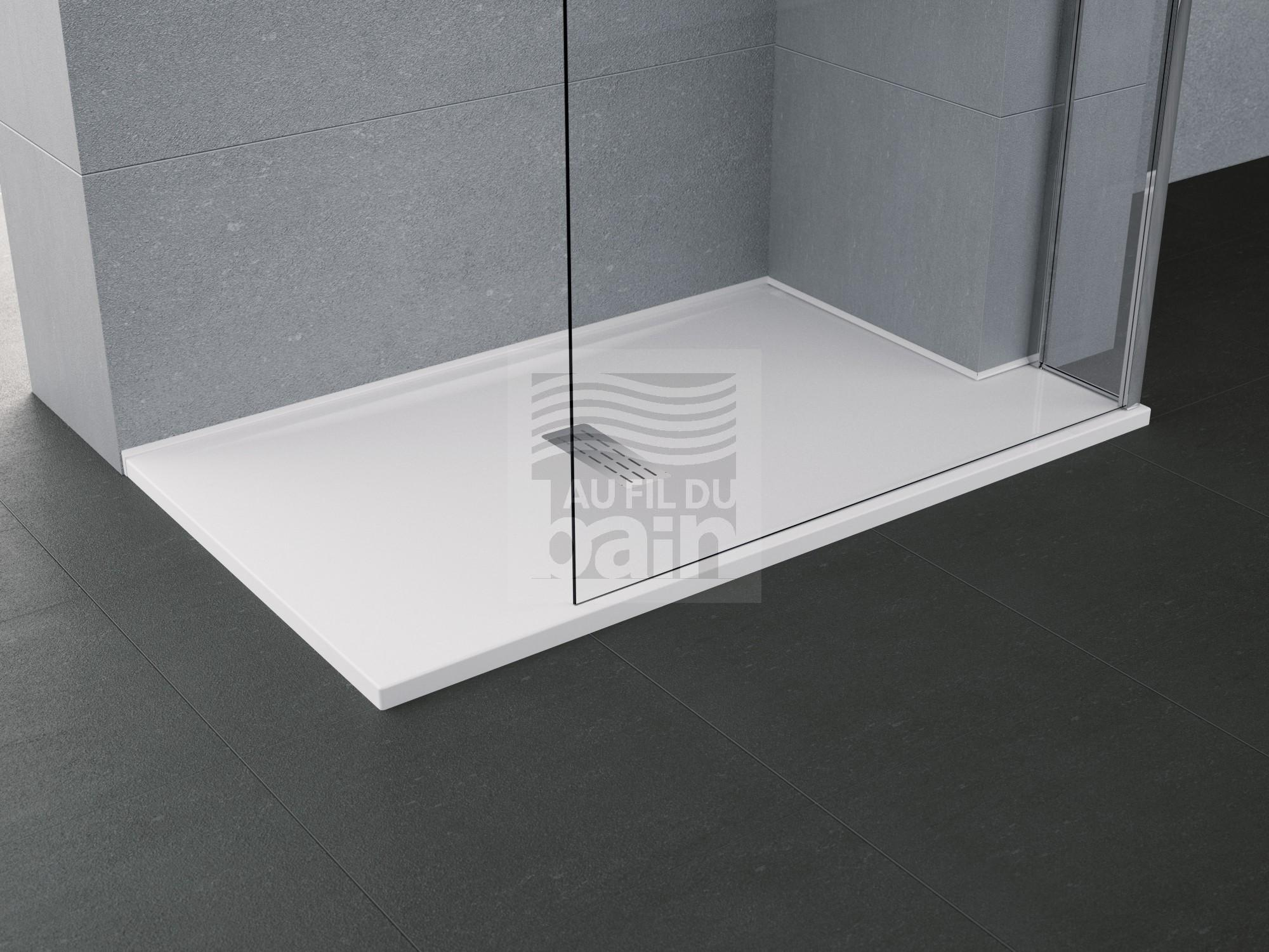 receveurs de douche extra plat en acrylique magasin pour vente de meubles de salle de bains. Black Bedroom Furniture Sets. Home Design Ideas