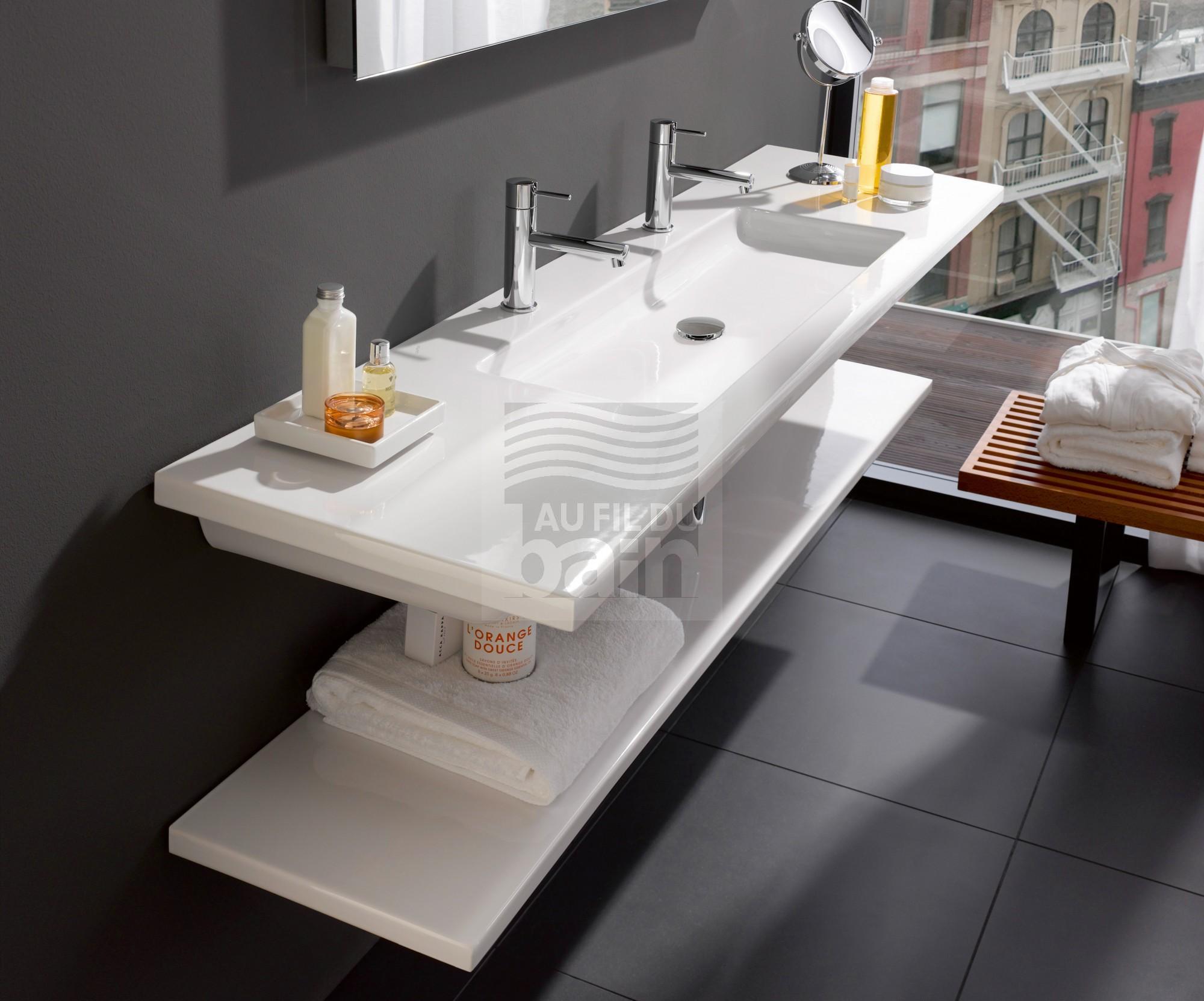 Plan vasque ceramique simple magasin pour vente de meubles de salle de bains marseille tosolini - Plan vasque de salle de bain ...