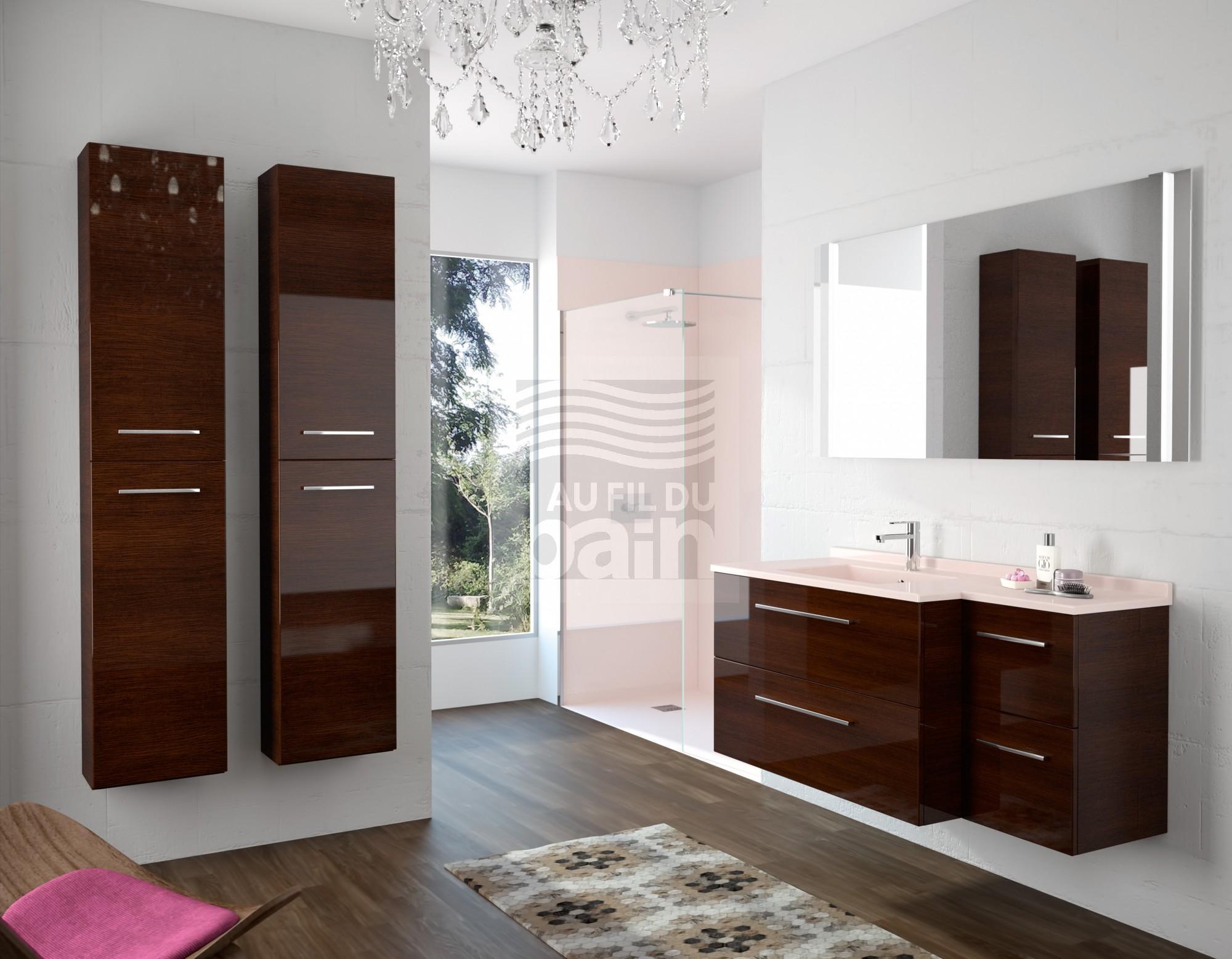 Meubles de salle de bains suspendus simple vasque avec - Meuble vasque salle de bain brico depot ...