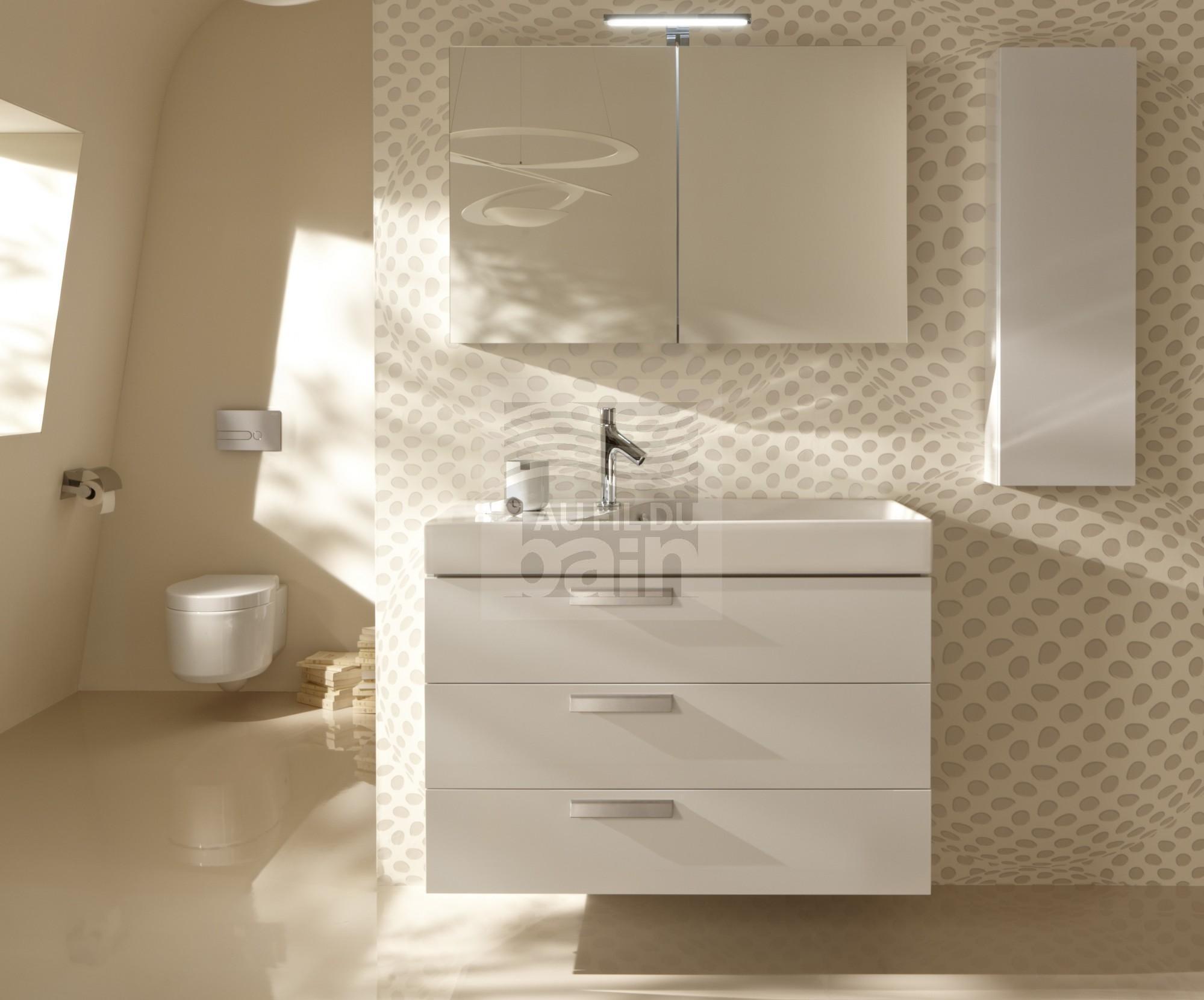Meubles de salle de bains suspendus simple vasque - Vasque ceramique salle de bain ...