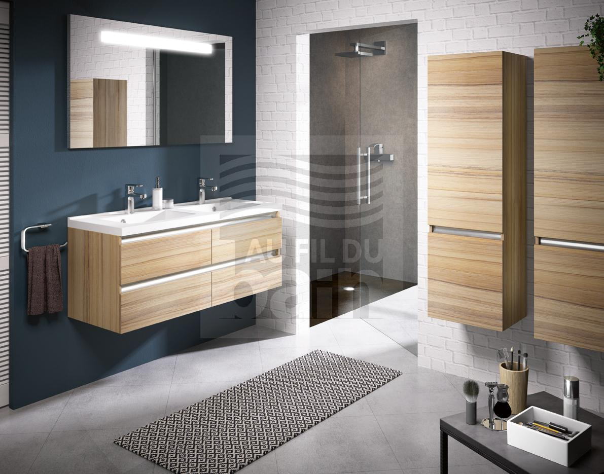 meubles de salle de bains suspendus double vasque avec. Black Bedroom Furniture Sets. Home Design Ideas