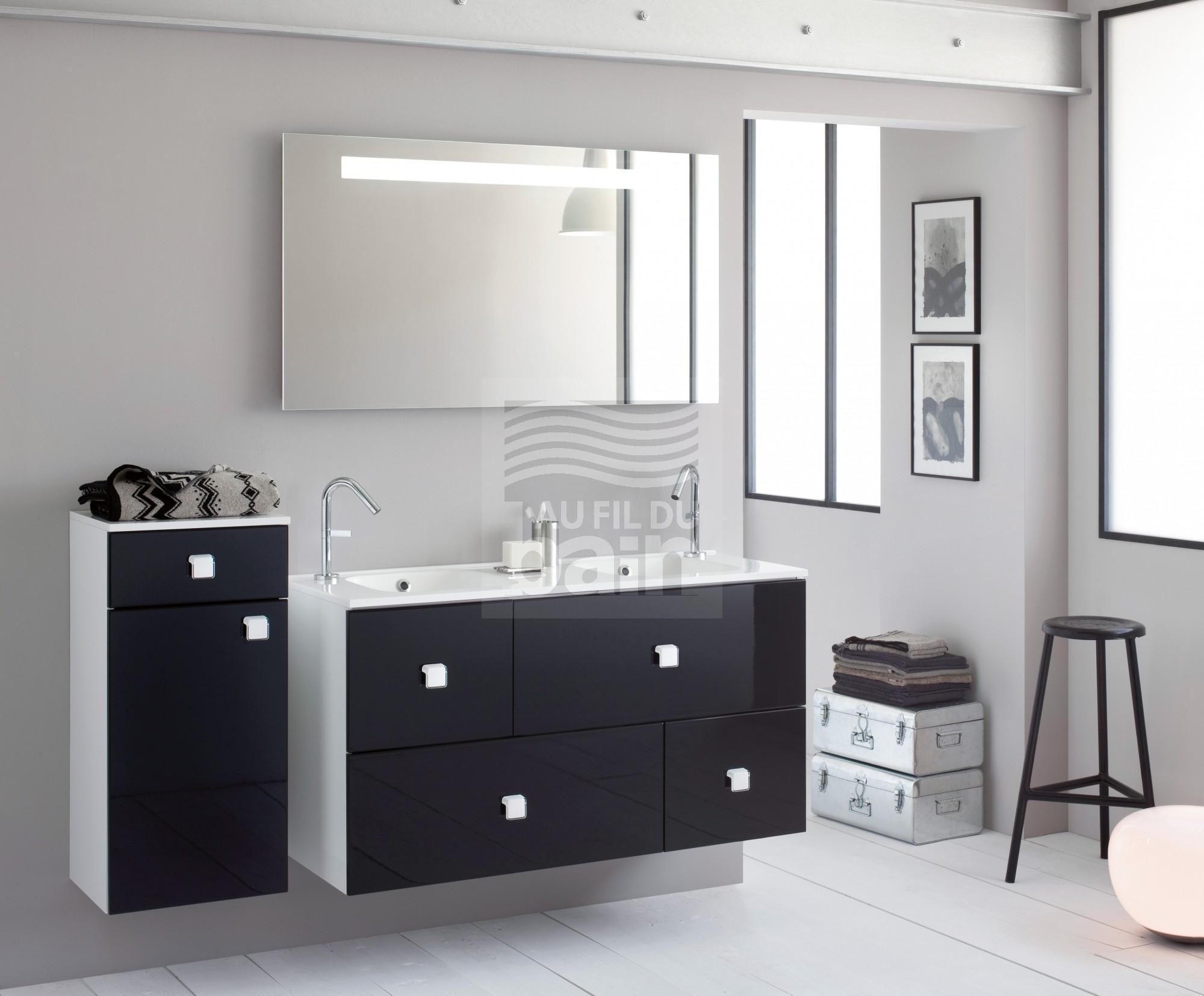 meubles de salle de bains suspendu double vasque avec plan. Black Bedroom Furniture Sets. Home Design Ideas
